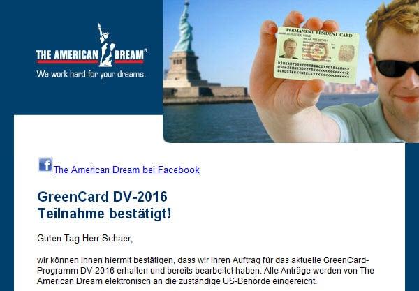 Teilnahmebestaetigung GreenCard